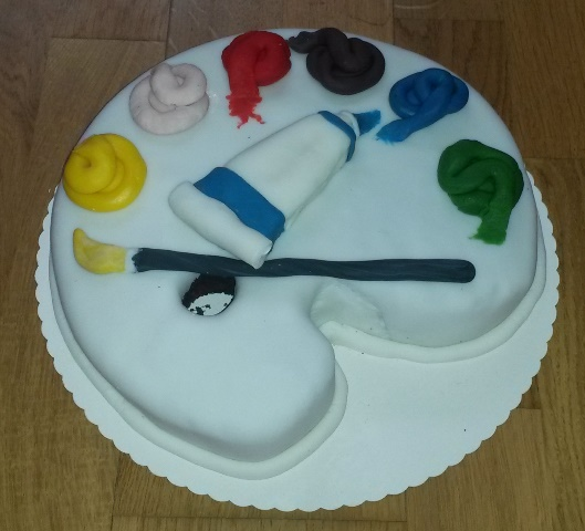 Malerpalette Torte